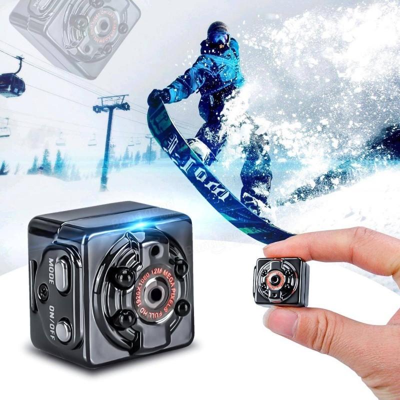 Мини Шпионска, Екшън DV камера, Видеорегистратор с нощно виждане Mini FULL HD Camera SQ8