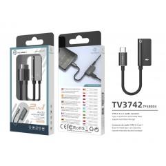 Преходник USB Type C към 3.5 мм Techancy TV3742
