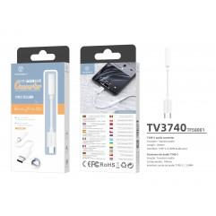 Преходник USB Type C към 3.5 мм Techancy TV3740