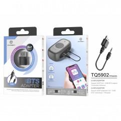 Блутут USB Аудио приемник - предавател 2 в 1 Techancy TQ5902, 3.5mm жак, за TV, Кола, Компютър